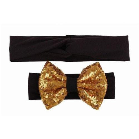 Baby & Mommy Knotted Hairband Black Set - dresslikemommy.com