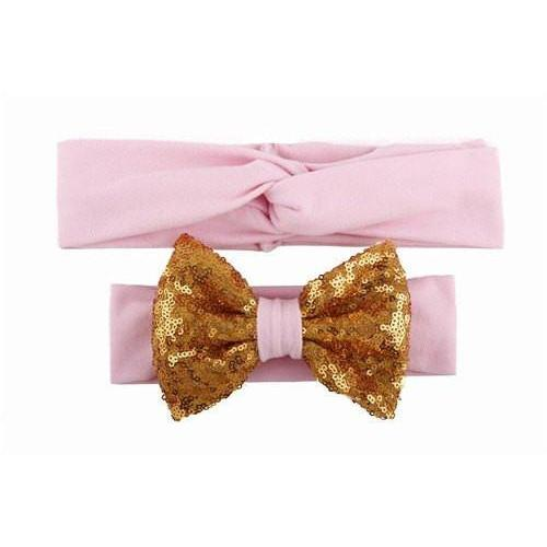 Baby & Mommy Knotted Hairband Pink Set - dresslikemommy.com