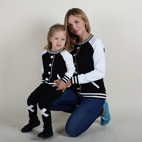 Baseball Sweaters Matching Outfits - dresslikemommy.com