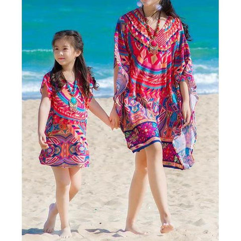 Bohemian Beach Cover-Up Mommy & Me - dresslikemommy.com