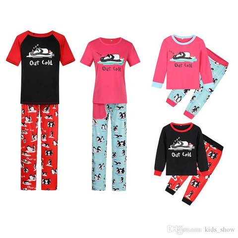 Family Matching Sleeping Penguin Pajamas - dresslikemommy.com