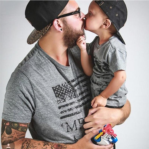 Daddy and Me American Flag T-Shirt - dresslikemommy.com