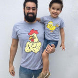 Daddy and Me Cartoon T-Shirt-Family Matching-dresslikemommy.com