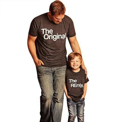 Daddy and Me Original & Remix T-Shirt-Family Matching-dresslikemommy.com