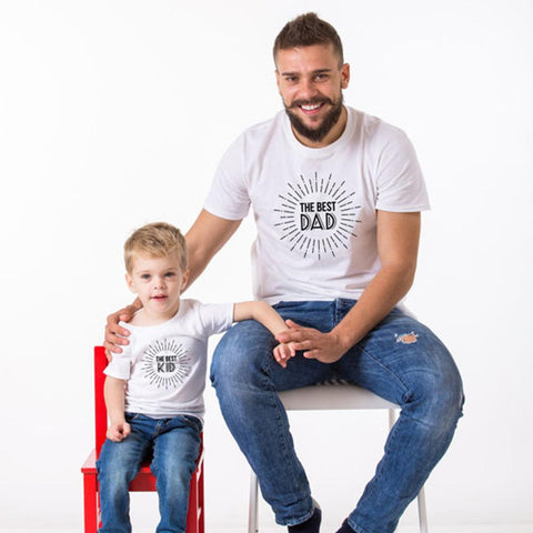 Daddy and Me The best Kid & Dad T-Shirt-Family Matching-dresslikemommy.com