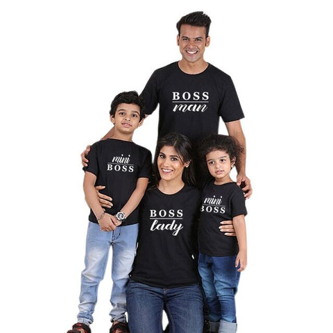 Family Matching Boss T-shirts - dresslikemommy.com