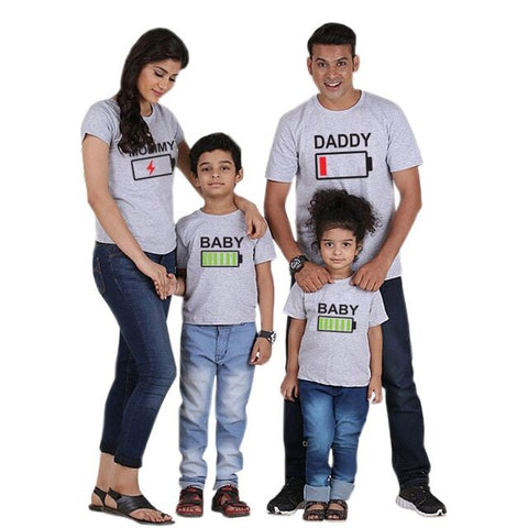 Family Matching Battery T-shirts - dresslikemommy.com