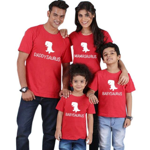 Family Matching Saurus T-shirts