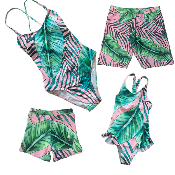 Family Matching Hawaii Swimsuits