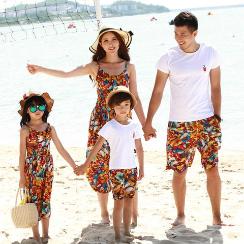 Family Matching Butterfly Print Outfit-Family Matching-dresslikemommy.com