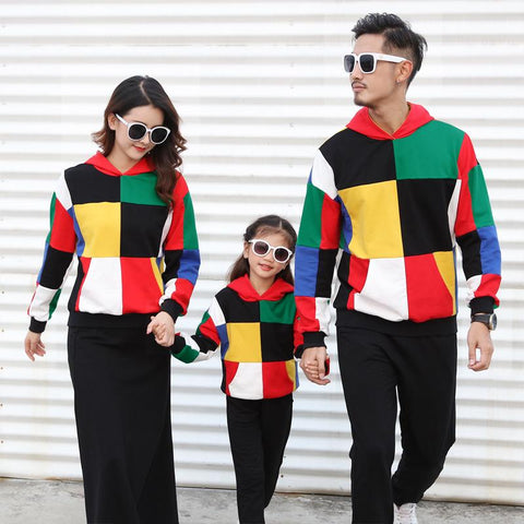 Family Matching Fashion Colorful Sweater - dresslikemommy.com