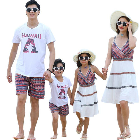 Family Matching Hawaii Summer Set - dresslikemommy.com