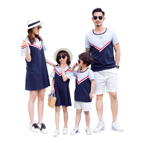 Family Matching Patchwork Outfit - dresslikemommy.com
