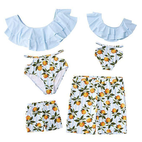 Family Matching Peaches Swimsuits-Family Matching-dresslikemommy.com