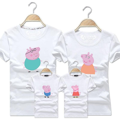 Family Matching Peppa Pig Cotton T-Shirt - dresslikemommy.com