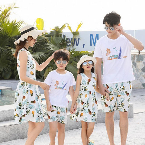 Family Matching Pineapple Beach Set - dresslikemommy.com