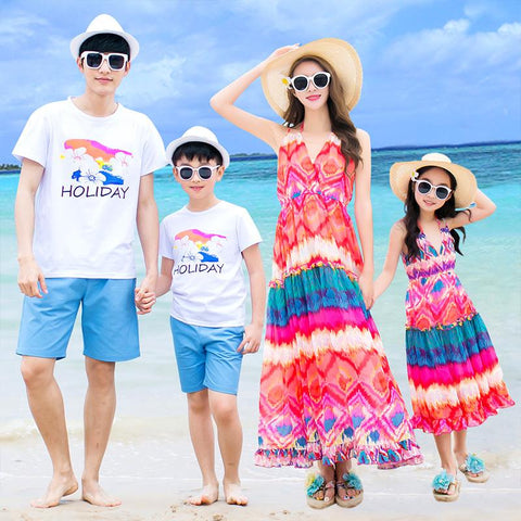 Family Matching Seaside Colorful Set - dresslikemommy.com