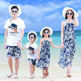 Family Matching Summer Blue Floral Set-Family Matching-dresslikemommy.com