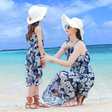 Family Matching Summer Blue Floral Set - dresslikemommy.com