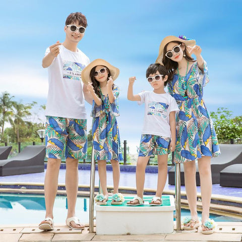 Family Matching Summer Island Set - dresslikemommy.com