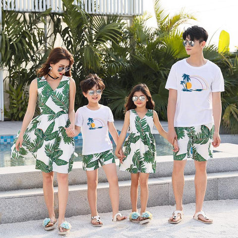 Family Matching Tropical Green Set-Family Matching-dresslikemommy.com
