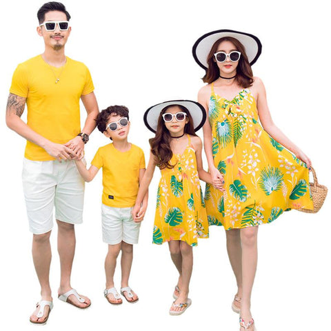 Family Matching Tropical Print Outfit-Family Matching-dresslikemommy.com