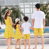 Family Matching Yellow Beach Set - dresslikemommy.com