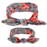 Floral Butterfly Bow Hairband Gray Set - dresslikemommy.com