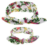 Floral Butterfly Bow Hairband Green Set - dresslikemommy.com