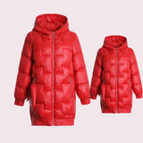 Mommy & Me Winter Hooded Jacket - dresslikemommy.com