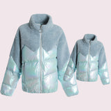 Matching Mommy & Me Splicing Winter Coat - dresslikemommy.com