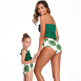 New 2020 Matching Mother Daughter Tube High Waist Swimsuit - dresslikemommy.com