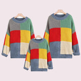 Family Matching Rainbow Mosaic Sweater - dresslikemommy.com