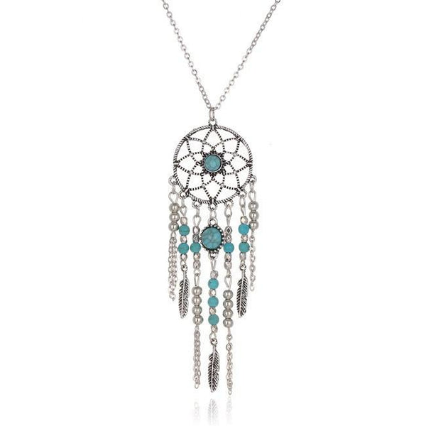 Indian Style Dream Catcher Necklace - dresslikemommy.com