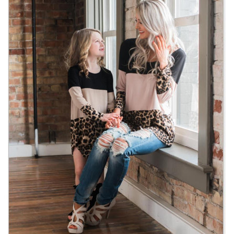 Leopard Patchwork Lace Dress Mommy & Me - dresslikemommy.com