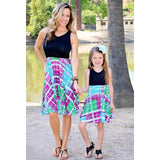 Matching Blue Purple Splash Dress-Dresses-dresslikemommy.com