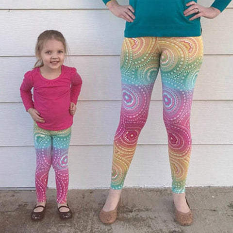 Matching Colorful Yoga Pants Mommy & Me-Bottoms-dresslikemommy.com