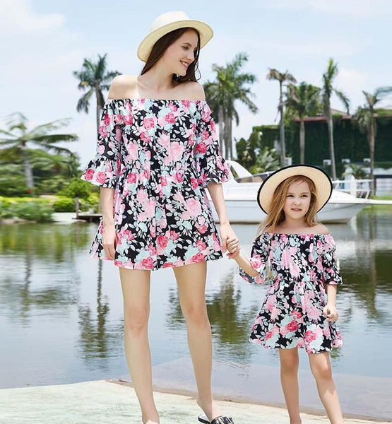 Matching Floral Dress Mommy & Me - dresslikemommy.com