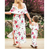 Matching Floral Maxi Dress Mommy & Me - dresslikemommy.com