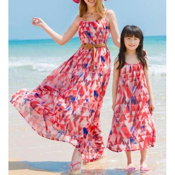 Matching Floral Summer Beach Dress - dresslikemommy.com