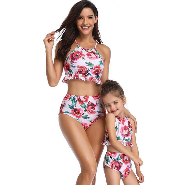 Matching Floral Swimsuit Mommy & Me-Swimsuits-dresslikemommy.com