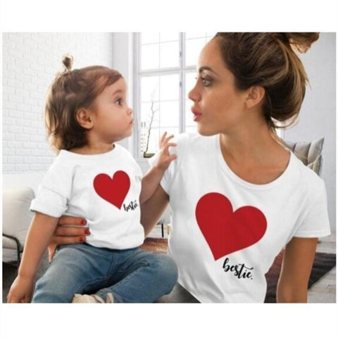 Matching Heart T-Shirt Mommy & Me-Tops-dresslikemommy.com