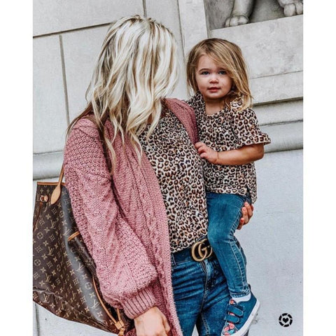 Matching Leopard T-Shirt Mommy & Me-Tops-dresslikemommy.com