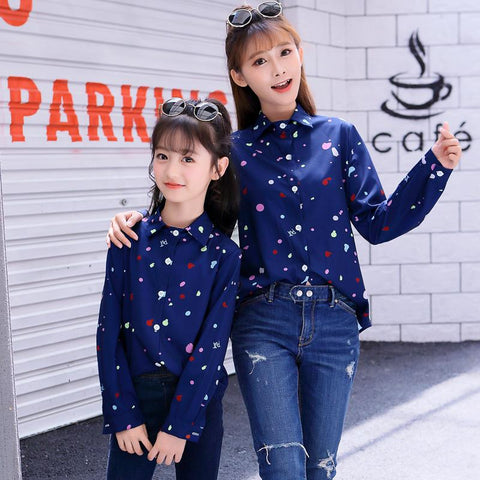 Matching Long-Sleeved Shirt-Tops-dresslikemommy.com