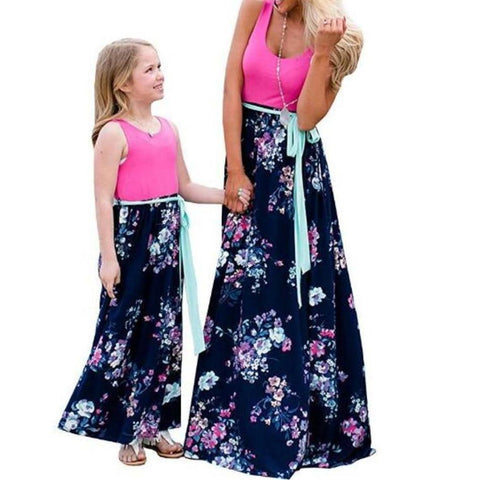Matching Maxi Pink Double Rose Patchwork - dresslikemommy.com