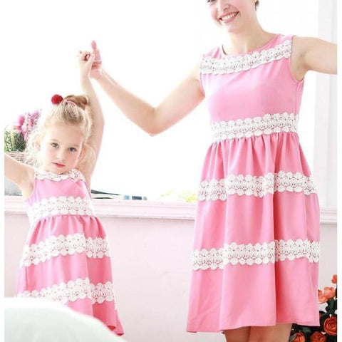 Matching Mommy & Me Embroidered Dress-Dresses-dresslikemommy.com