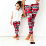 Matching Mommy & Me Red Floral Leggings - dresslikemommy.com