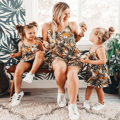 Matching Mommy & Me Tropical Dress