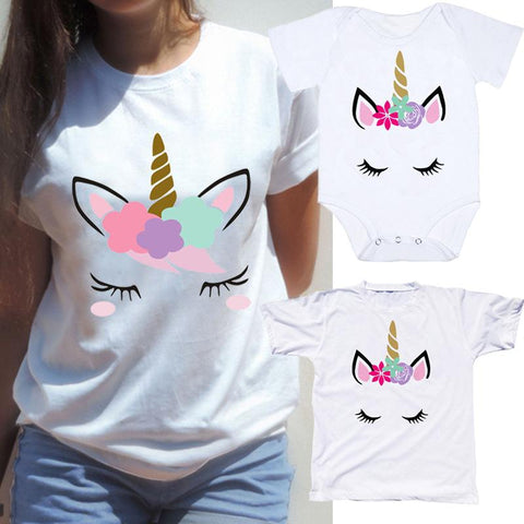 Matching Mommy & Me Unicorn T-shirt - dresslikemommy.com