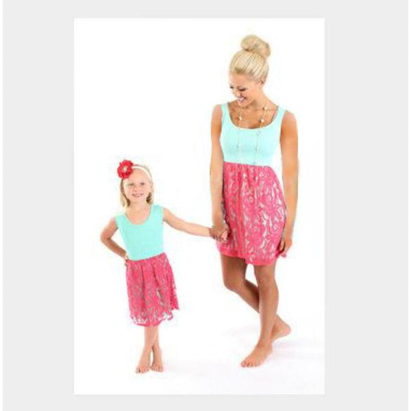 Matching Mother Daughter Patchwork Lace Dress - dresslikemommy.com